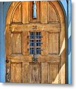 Rectory Door Metal Print