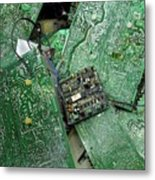 Recycling Computer Circuit Boards Metal Print