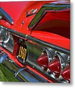 Red 1960 Chevy Metal Print