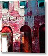 Red Abandonment Metal Print