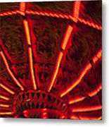 Red Abstract Carnival Lights Metal Print