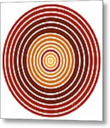 Red Abstract Circle Metal Print by Frank Tschakert
