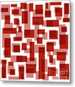 Red Abstract Patches Metal Print
