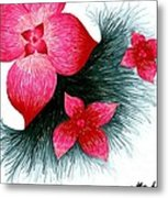 Red Metal Print by Allyson Andrewz