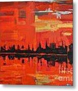 Red Amazon Sunset Metal Print