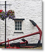 Red Anchors Metal Print