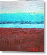 Red And Aqua Get Married Metal Print