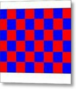 Red And Blue Checkered Flag Metal Print