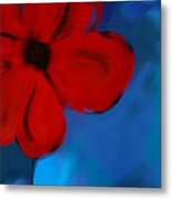 Red And Blue -flower -art Metal Print