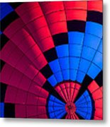 Red And Blue Pattern Metal Print
