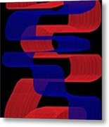 Red And Blue Ribbons Metal Print