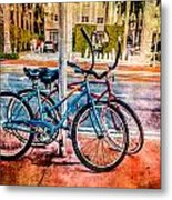 Red And Blue Rides Metal Print