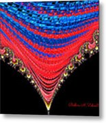 Red And Blue Shawl  Metal Print