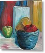 Red And Blue Still Life 2013 Metal Print