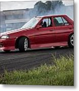 Red And Drift Hard Metal Print