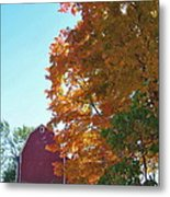 Red And Gold And Blue Metal Print