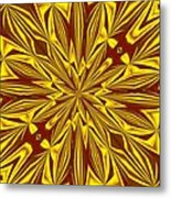 Red And Gold Christmas Kaleidescope Metal Print