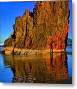 Red And Gold In The Sea Metal Print