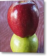 Red And Green Apples Metal Print