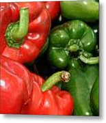Red And Green Peppers I Phone Case Metal Print
