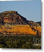 Red And Green Plateau New Mexico Metal Print