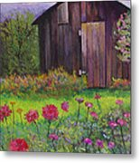 Red And Pink Flowers Metal Print
