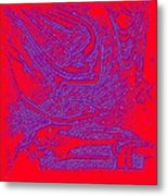 Red And Purple Metal Print