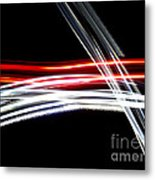 Red And Silver Metal Print