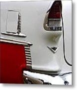Red And White 1955 Chevy Metal Print