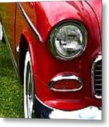 Red And White 50's Chevy Metal Print