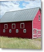 Red And White Barn Metal Print