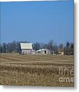 Red And White Barns Metal Print