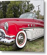 Red And White Classic Metal Print