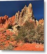 Red And White Desert Towers Metal Print
