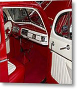 Red And White Metal Print
