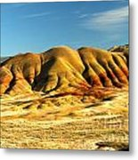 Red And Yellow Painted Hills Metal Print