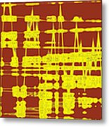 Red And Yellow Wave No 3 Metal Print