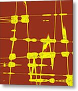 Red And Yellow Wave No 4 Metal Print