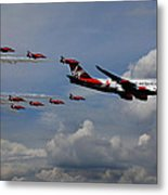 Red Arrows And Lady Penelope Metal Print