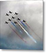 Red Arrows Formation Metal Print