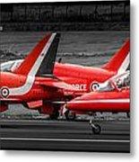 Red Arrows Threesome Take-off Metal Print