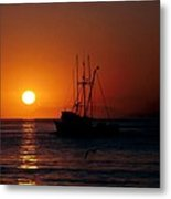 Red At Night Sailor's Delight Metal Print