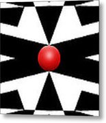 Red Ball 25a Panoramic Metal Print