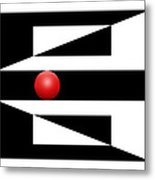 Red Ball 3 Metal Print