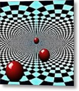 Red Balls Triptych Metal Print