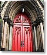 Red Baltimore Door Metal Print