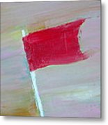 Red Banner Metal Print