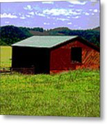Red Barn Farm Metal Print