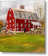 Red Barn In Woodstock Vermont- Red Barn Art Metal Print