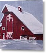 Red Barn Metal Print by Kathy Weidner